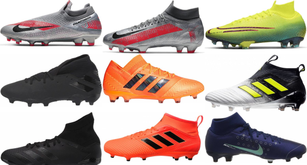 buy mid top firm ground soccer cleats for men and women