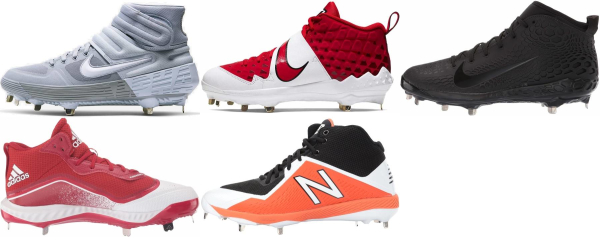 buy mid metal baseball cleats for men and women