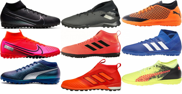 buy mid top turf soccer cleats for men and women
