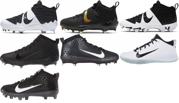 buy mike trout black baseball cleats for men and women