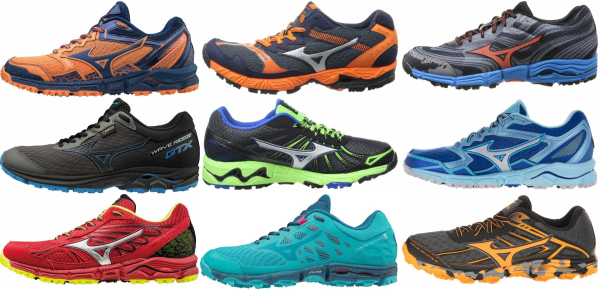 buy mizuno trail running shoes for men and women