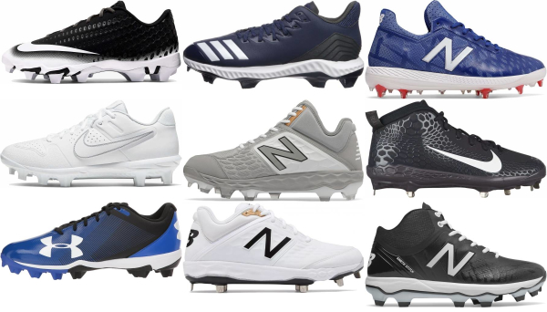 buy molded plastic baseball cleats for men and women
