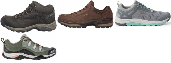 buy narrow low cut hiking shoes for men and women