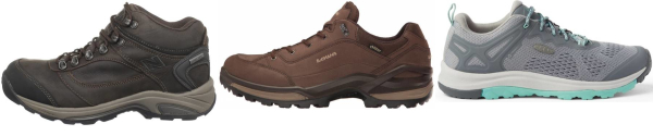 buy narrow rubber sole hiking shoes for men and women
