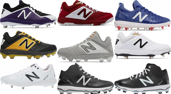 buy new balance lace-up baseball cleats for men and women