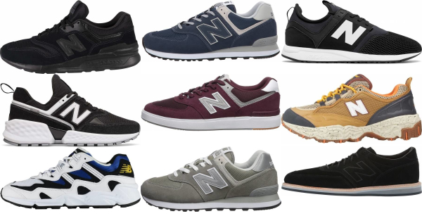 buy new balance leather sneakers for men and women