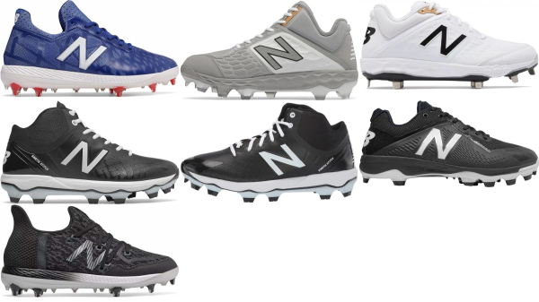 buy new balance molded plastic baseball cleats for men and women
