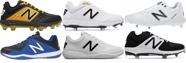 buy new balance synthetic leather  baseball cleats for men and women