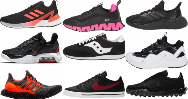 buy new black sneakers for men and women