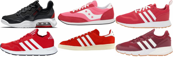 buy new red sneakers for men and women