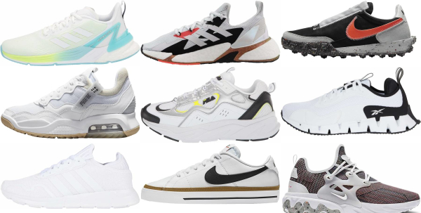 buy new white sneakers for men and women