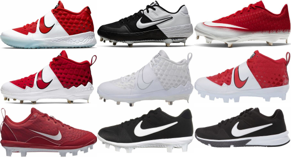 buy nike red baseball cleats for men and women