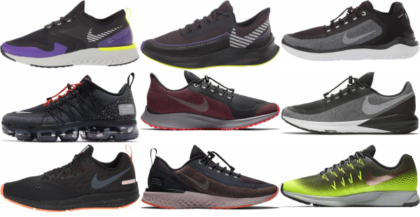 buy nike water repellent running shoes for men and women