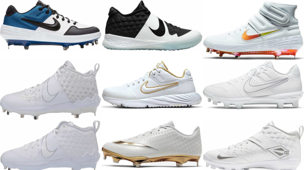 buy nike white baseball cleats for men and women