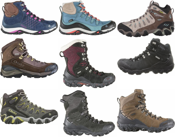 buy oboz waterproof hiking boots for men and women