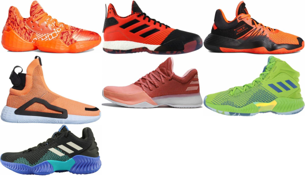 buy orange adidas basketball shoes for men and women