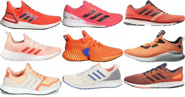 buy orange adidas running shoes for men and women