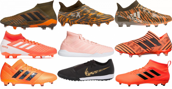 buy orange adidas soccer cleats for men and women