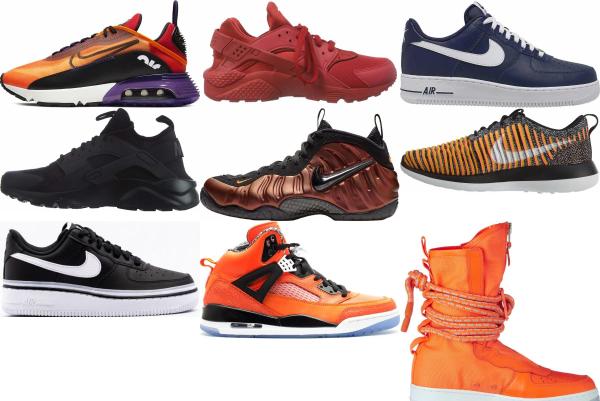 buy orange air sole sneakers for men and women