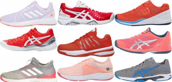 buy orange all court tennis shoes for men and women