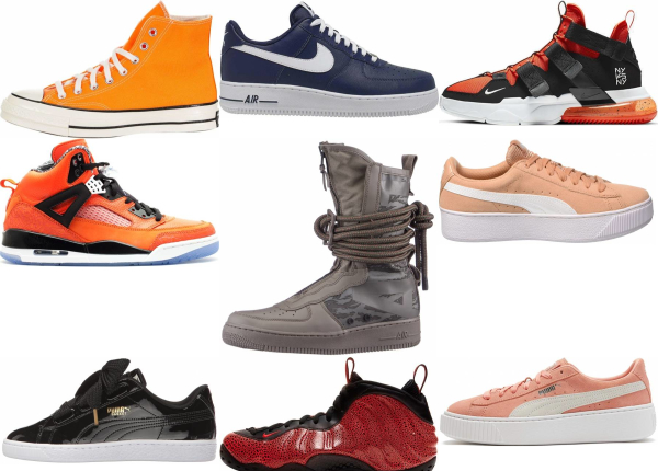buy orange basketball sneakers for men and women