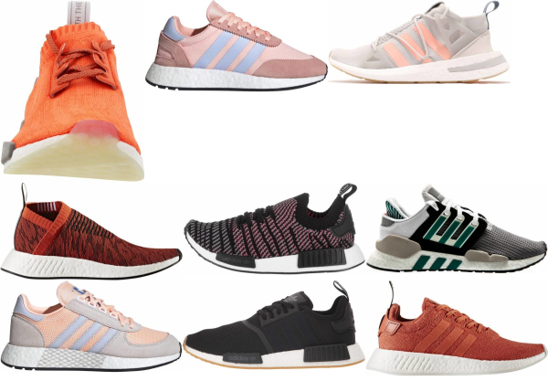 buy orange boost sneakers for men and women