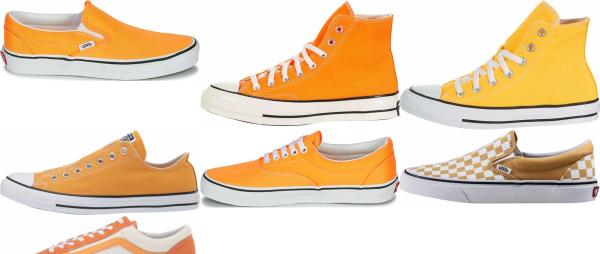 buy orange canvas sneakers for men and women