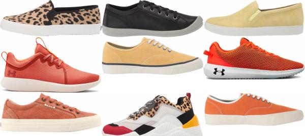 buy orange casual sneakers for men and women