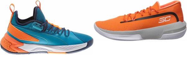 buy orange cheap basketball shoes for men and women
