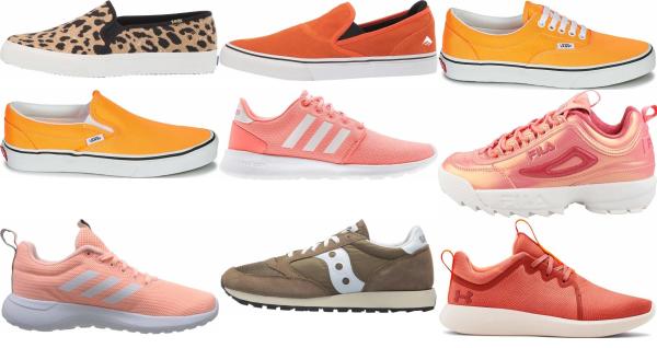 buy orange cheap sneakers for men and women