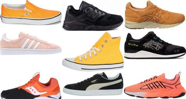 buy orange classic sneakers for men and women