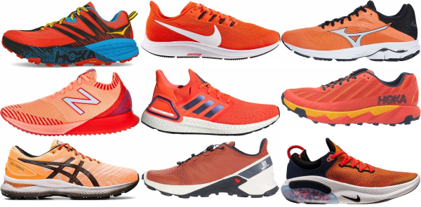 buy orange daily running shoes for men and women