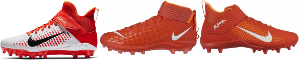 buy orange football cleats for men and women