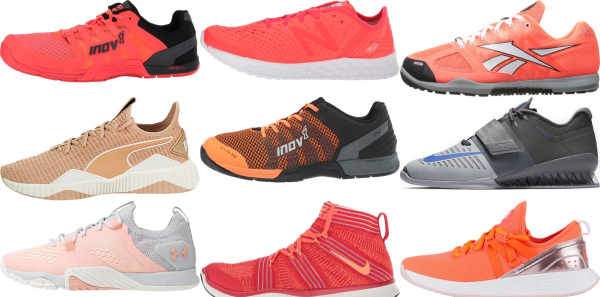 buy orange gym shoes for men and women
