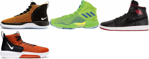 buy orange high basketball shoes for men and women