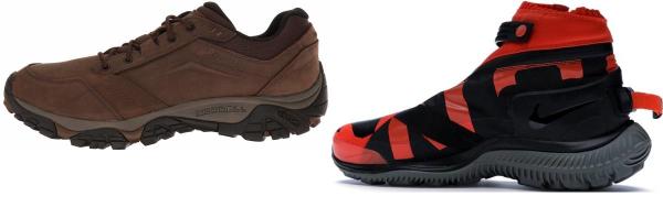 buy orange hiking sneakers for men and women