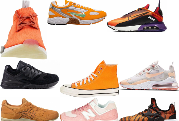buy orange laces sneakers for men and women