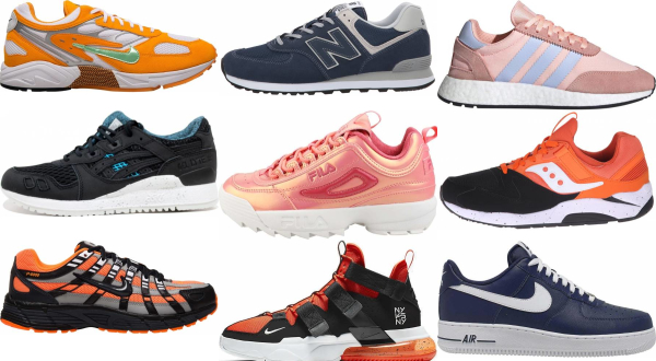 buy orange leather sneakers for men and women