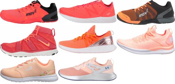 buy orange lightweight training shoes for men and women