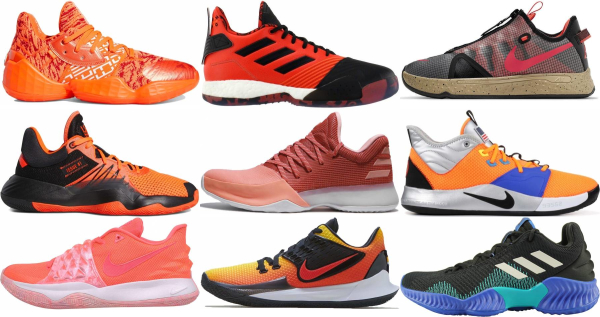 buy orange low basketball shoes for men and women