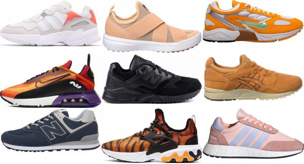 buy orange mesh sneakers for men and women