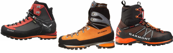 buy orange mountaineering boots for men and women