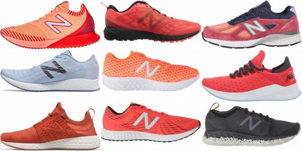 buy orange new balance running shoes for men and women