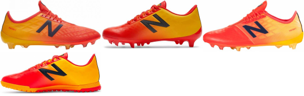 buy orange new balance soccer cleats for men and women