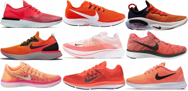 buy orange nike running shoes for men and women