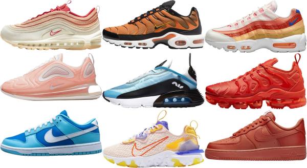 buy orange nike sneakers for men and women