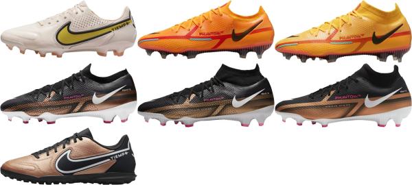 buy orange nike soccer cleats for men and women
