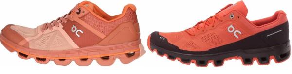 buy orange on running shoes for men and women