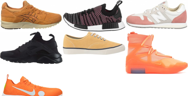 buy orange orthotic friendly sneakers for men and women