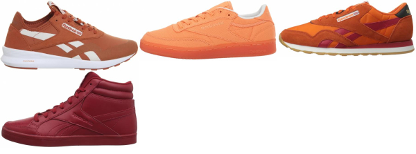 buy orange reebok sneakers for men and women